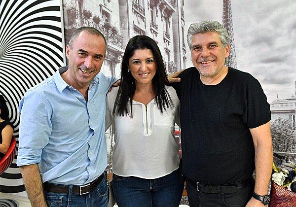 סיון פרג' עם מירה פריצקי וגונן אוסישקין. צילום: סטודיו פרג'
