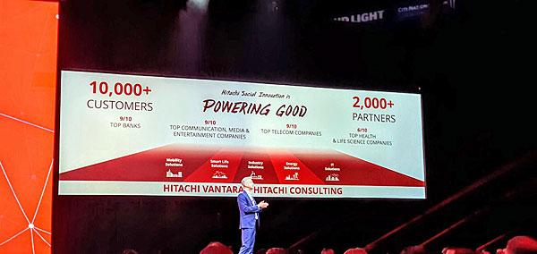 מיצובה של היטאצ'י ונטרה: מעל 10,000 לקוחות בעולם, בהם תשעה מעשרת הבנקים הגדולים, יותר מ-2,000 שותפים ועוד, כמפורט בתמונה. צילום: פלי הנמר